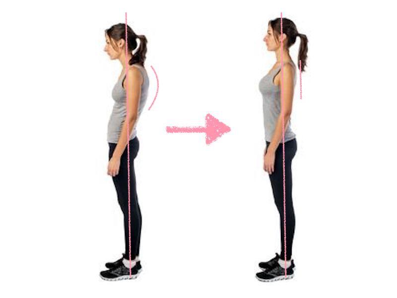 パーソナルジム、パザパでは姿勢改善を第一に考えます。